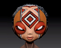 Anansi CG Model and  Bust Sculpt
