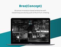 Braz(Concept)/Aluminum smelting/Web design/UI/UX