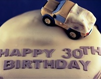 Desert Army Birthday Cake