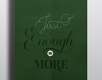 Lettering: Just enough is more