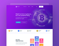 Cryptocurrency branding & website design concept
