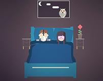 Flat motion design -flat bedroom-