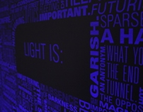 LIGHT IS: UV Type Poster