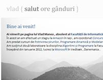 2011 Personal website variant