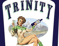 Trinity Absinthe label illustration and design