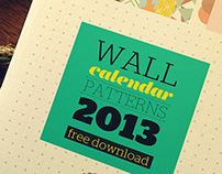FREEBIE // WallCalendar 2013