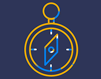 Camping icon animation