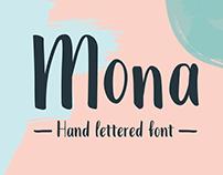 Mona Hand Lettered Font