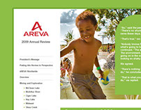 Areva Online Annual Report Design