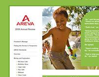 Areva Online Annual Report Design