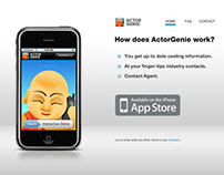 Actor Genie - iPhone App Website Design