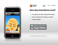 Actor Genie - iPhone App Website Design