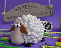 The Woolie Witch Sheep
