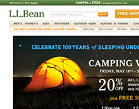 L.L.Bean Home page Project