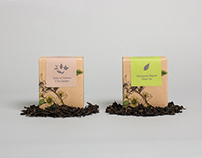 Reaching Out Teahouse Tea and Coffee packaging