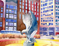 Chicago 1980's watercolor & drawings
