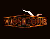 Nino's Corner 3D Logo Design