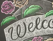 Chalk art for wedding reception