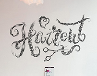 Haircut lettering