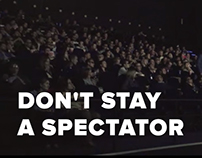 "Social ad campaign ""Don't Stay a Spectator"""