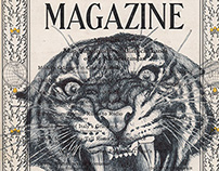 bic biro drawing on a 1940 national geographic magazine