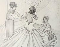 Bridal Sketchbook Illustrations