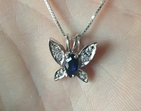 Diamond Butterfly Pendant