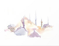 Watercolor Landmarks