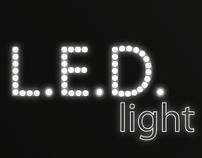 L.E.D. light Poster