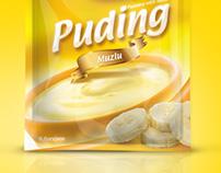 Puding paket ambalaj tasarımı. Pudding Package Design