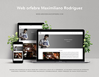 Web orfebre Maximiliano Rodríguez