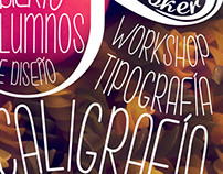Poster para Workshop de Lettering