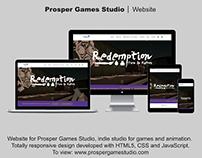 Website - for Prosper Games Studio
