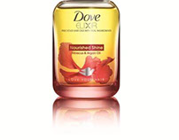 Dove Elixir Hair Oil- Product Packaging Design