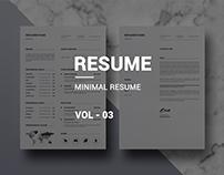 Clean Minimal Resume