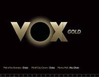 VOX Gold menu
