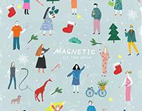 Postcard for 'Magnetic' team