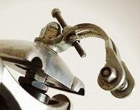 Upcycled bikebot /// Name: SentinelBot