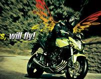 "Honda wings Ad ""GOT WINGS, WILL FLY!"""