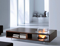 Coffee Fire Tables by Planika