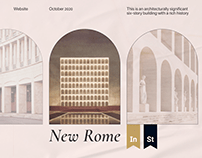 New Rome Apartments — real estate site concept