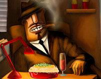"""illustration """"gangster"""""""