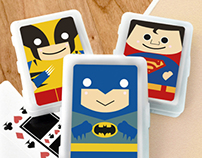 Super Heroes Poker Card