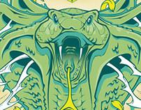 King Cobra Flower - Poster