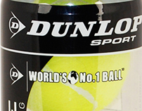 Dunlop Tennis Practice Ball Packaging
