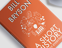 Bill Bryson Book Cover Designs (College Work)