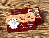 Cartão de visita - Dona Rose Doces e Massas