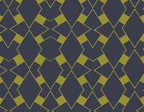 Mid Century Modern Diamond Pattern