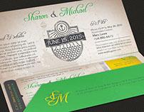 Island Wedding Boarding Pass Invitation Template