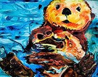 Watercolors for the Tidepool Cafe in Seldovia, Alaska